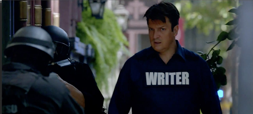 Castle serie tv Nathan Fillion