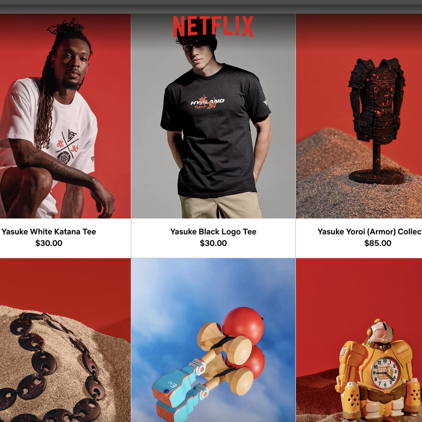Netflix shop negozio online